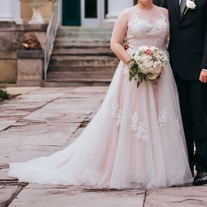 Mary's Bridal blush wedding gown